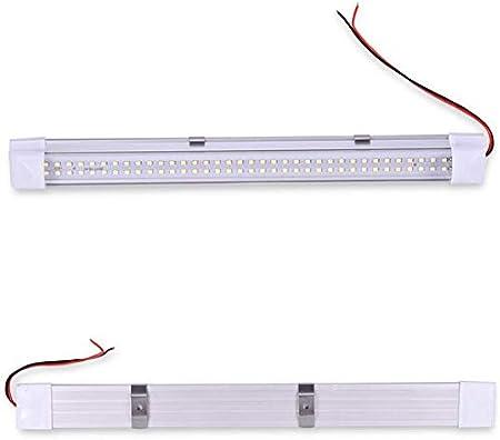 HONGY Interior Lights Bar 2pcs RV Ceiling Light Roof Lights 72 LED 12V Universal Light Strip with Self-adhesion Tape for Camper//Trailer//Motorhome//Boat