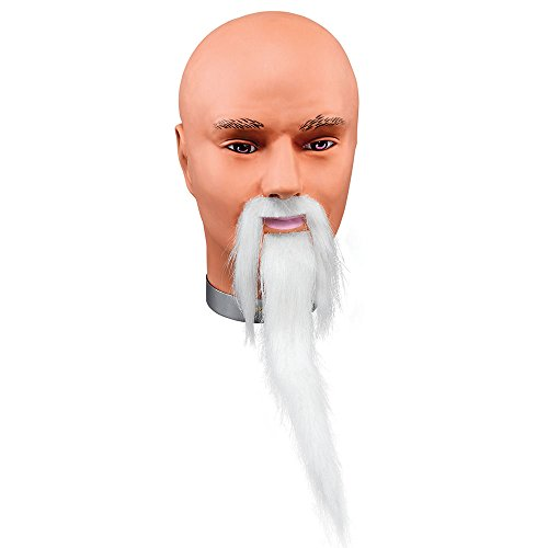 Bristol Novelty MB078 Wizard Beard and Moustache White, Mens, One Size -