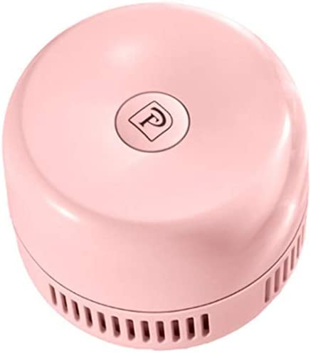 HONYGE LXGANG Useful Desktop Vacuum Cleaner Small Size Clean Scraps Machine Portable Dust Collector for Notebook Computer Keyboard Pink Vacuum Cleaner
