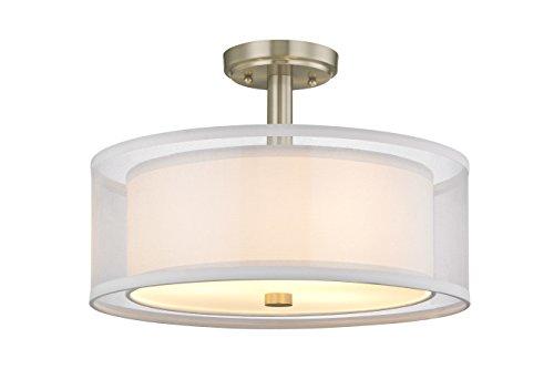 Dolan Designs 3 Light (Dolan Designs Four Light Semi Flush Mount 1275-09)