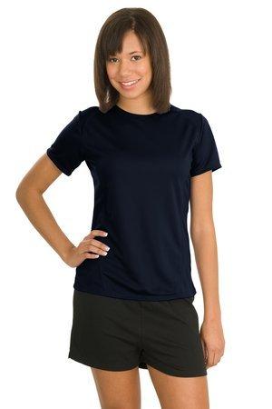 Sport-Tek L473 Ladies Dry Zone Raglan Accent T-Shirt - True Navy L473 (Accent Tee)
