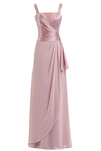 Pageant elegante Spaghetti cinghie Costume Sunvary d'onore Rosa Gowns damigella da gxvPBw