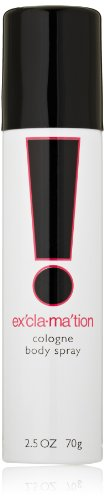 Emeraude Exclamation Cologne Body Spray by Emeraude 2.5 Fluid Ounce Oriental Floral Scented Women's Body Spray, Feminine & Sharp Scent