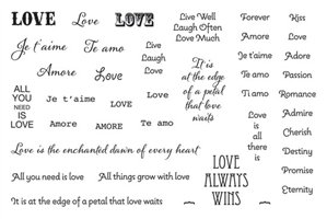 Cool Tools - Jewel Stamps for Soft Clay - Loving Words Word Clay