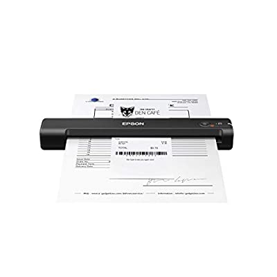 Epson Workforce ES-55R Mobile Receipt and Document Scanner with Receipt Management Software for PC and Mac