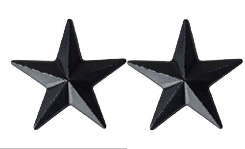 U.S. Army Metal Pin On Officer Rank BLACK - 1 PAIR (O7 - Brigadier General) (General Rank Insignia)
