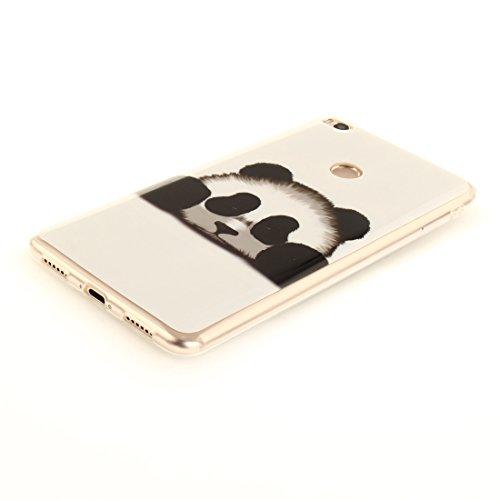 De Protection De Antichoc Couverture Scratch En Mi Motif Xiaomi Souple Bord panda Cas Téléphone Slim TPU Silicone Hozor Résistant Fit Peint Transparent 2 Cas Arrière Max 1BxWZP