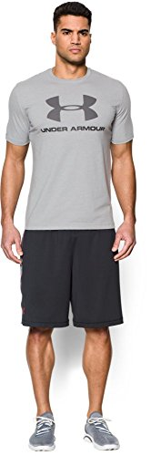 888376049904 - Under Armour Men's Sportstyle Logo T-Shirt, True Gray Heather/Black, XX-Large carousel main 4