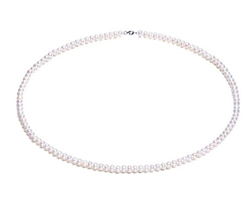 Rakumi Pearl Necklace Single-Strand 5mm White Freshwater Pearl Necklace 17""