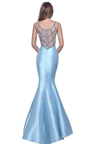 Blau Meerjungfrau Damen Marie Einfach Brautjungfernkleider Blau La Lang Ballkleider Neuheit Abendkleider Braut wfpcH