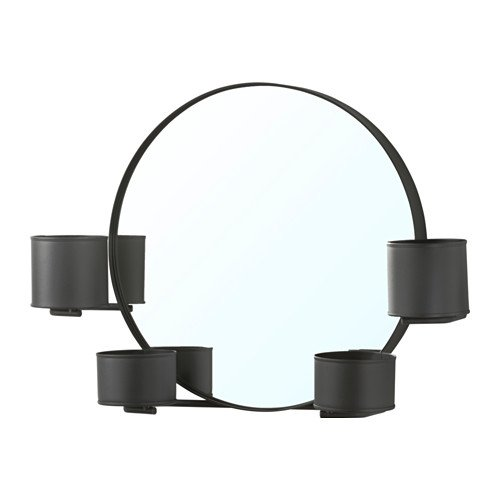 Ikea Wall Mounted Mirror, black 20 1/2 '', 1828.14118.626 by IKEA