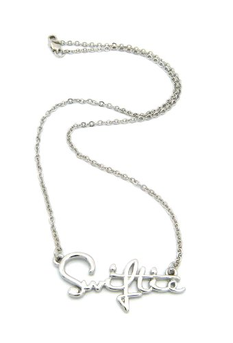 NYFASHION101 Swiftie Fans Pendant Necklace in Silver-Tone with 2mm 18