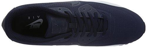 Nike - Air Max 90 Ultra Moire Scarpe da Ginnastica Basse Uomo Blu (Obsidian/Obsidian/Pure Platinum)