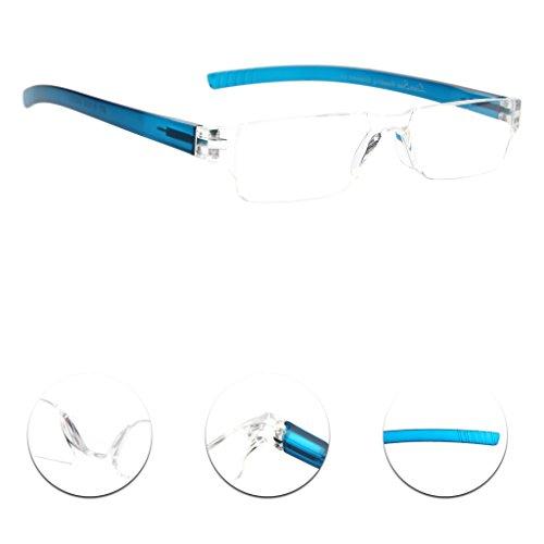 Liansan Designer 4 Pairs Rimless Reading Glasses Comfort Prescription Eyeglasses L2220(+1.50)