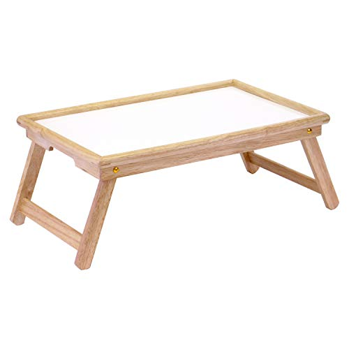 Winsome Wood Ventura Bed Tray, Natural/wht (For Table Sale Wood Legs)