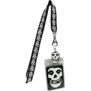 C&D Visionary Application Misfits Glow in The Dark Skull Lanyard -