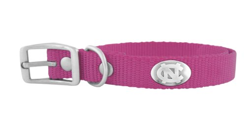Zep-Pro Pink Nylon Concho Pet Collar, North Carolina Tar Heels, Large