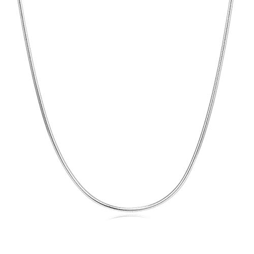 - LUHE Sterling Silver 1.9mm Snake Chain Italian Crafted Chain Necklace for Men Boys Unisex Strong - Lobster Claw Clasp 24 Inches (1.9mm 24inchs)