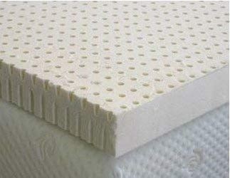 """All Natural Non Blended Latex Organic Covered Mattress Topper Pad 2"""" inch thick. Delux Version. Special promotional"""