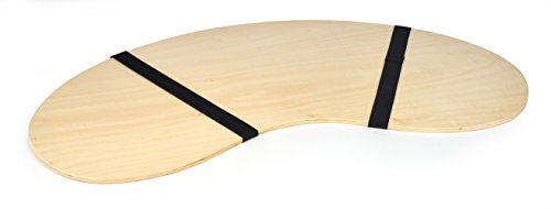 "32"" Portable Curved Shape Light Wood Lap Desk by Trademark Innovations"
