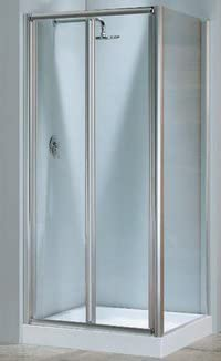 Mampara de ducha lunes s (puerta plegable) cristal 4 mm: Amazon.es ...