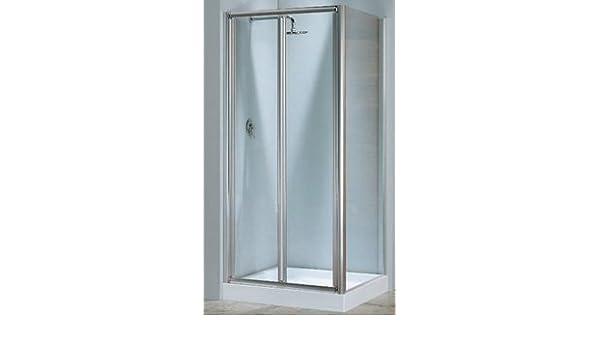 Mampara de ducha lunes s (puerta plegable) cristal 4 mm: Amazon.es: Bricolaje y herramientas