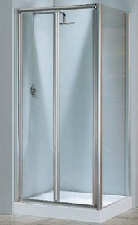 Mampara de ducha lunes s (puerta plegable) cristal 4 mm: Amazon.es ...