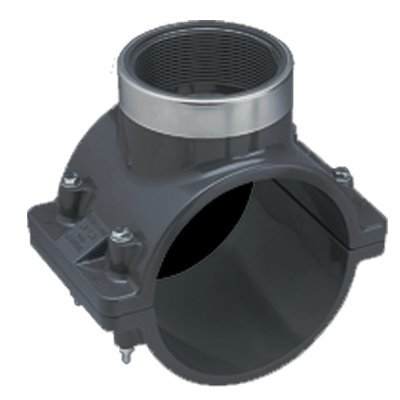 Spears 2737-015 PVC Schedule 80 Diaphragm Valve, Spigot, FKM, 1-1/2-Inch from Spears