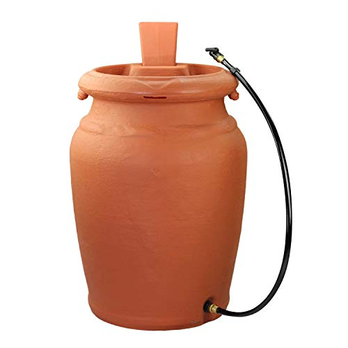 FCMP Outdoor US4000-TC Urn Style (Terra Cotta) Rain Barrel (Rain Planter)