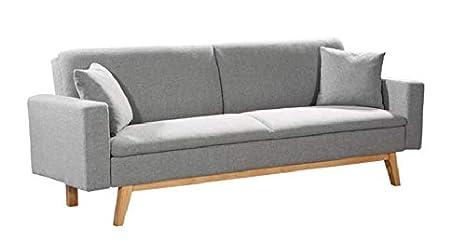 Mueblix Sofa Cama Sonora (Gris Claro): Amazon.es: Hogar