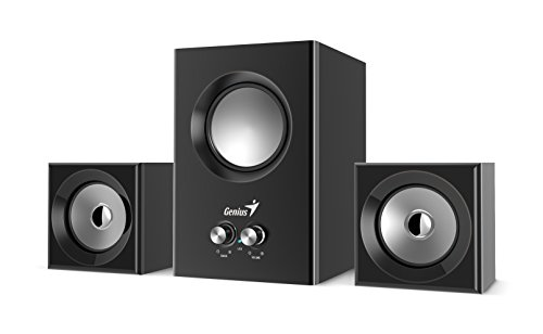 (Genius SW-2.1 375, 2.1 Ch with Rocket Subwoofer, RMS 12 Watts, Bass)