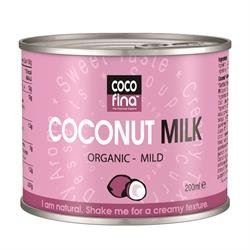 Cocofina Organic Coconut Milk - Mild 200ml (Pack of 24) by Cocofina