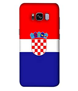 ColorKing Football Croatia 01 Multi Color shell case cover for Samsung S8