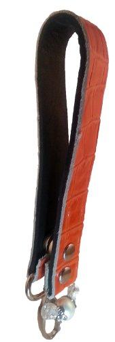 Secure Find and Retrieve Key Chain Hook for Purse Wrist or Belt Loop (Gator Orange Silver) -  Key Tether