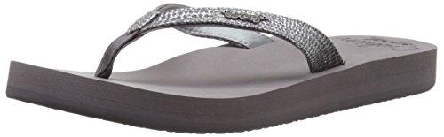 Reef Women's Star Cushion Sassy Sandal, Gunmetal, 8 M US