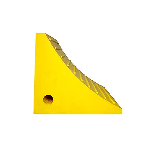 Esco 12593 Safety Yellow Pro Series Wheel Chock for Dump Trucks, Loaders, Construction Equipment and Tractors by Esco (Image #1)