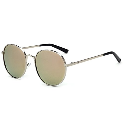 Z-P Vintage Style Wayfarer Metal Round Reflective Color - Overglasses Uk