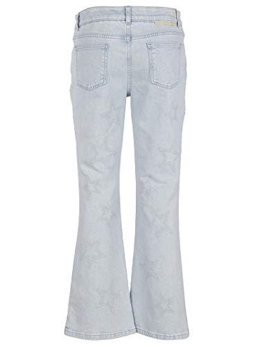 Femme Jeans Stella Coton 475508SKH324861 McCartney Blanc Bleu RUFFYa5qw