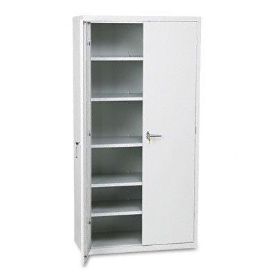 HON Brigade Series Five-Shelf Storage Cabinet - High Storage Cabinet, 36w by 18d by 72h , Light Gray (HSC1872)