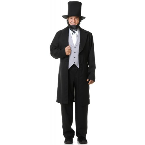Charades Men's Abe Lincoln, as Shown, Large