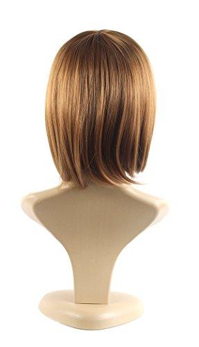 Xiaoyu plana bangs naturales cortos rectos BOB señoras pelucas cosplay - rubia: Amazon.es: Belleza