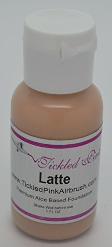 Tickled Pink Airbrush Aloe Foundation – Latte (2OZ)