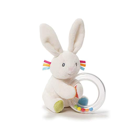 GUND Baby Flora The Bunny Plush Rattle 8.5