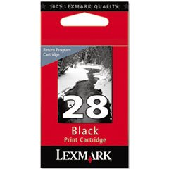 (6 Pack Value Bundle) LEX18C1428 18C1428 Ink, Black