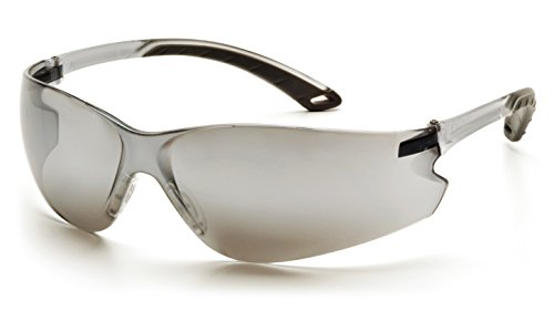 (Pyramex Itek Safety Eyewear, Silver Mirror Lens With Gray Temples)