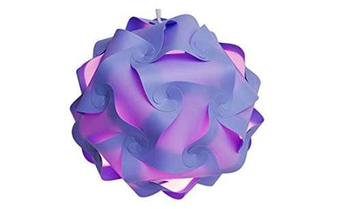 Happyi Puzzle Lights Modern Lamp Shade (Small-25cm, Purple)