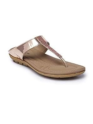 Monrow Nude Flat Sandals For Women, 37 EU