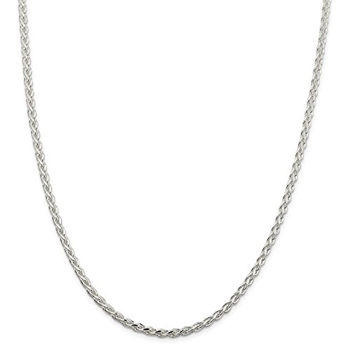 925 Sterling Silver 3.7 Mm Spiga Chain Necklace 20 Inch Pendant Charm Fine Jewelry Gifts For Women For Her ()