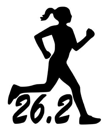 "50k Ultra Marathon Female Decal Sticker Runner Logo Run *Brand NEW Design 4/"""