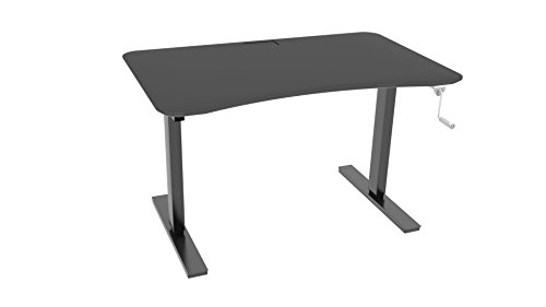 Ergo Elements Adjustable Height Standing Desk with Manual Hand Crank Black Base, 4' x 30